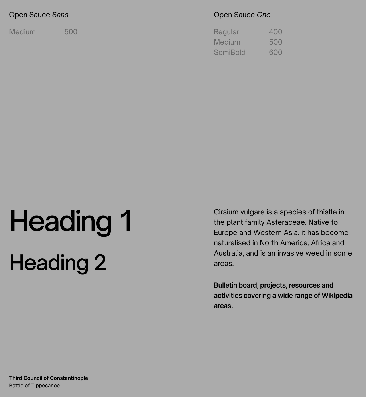 Typography preset in a design system